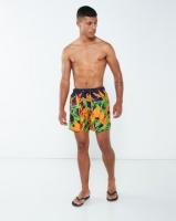 Granadilla Strelitzias Swim Shorts Navy Photo