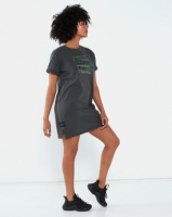 All About Eve Stamped Camo Tee Dress Washed Black Photo