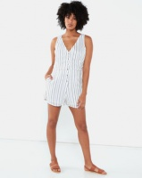 All About Eve Mirror Stripe Playsuit Navy and White Stripe Photo
