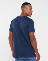 VENTS BRULL Ripped And Stripped T-Shirt Navy Photo