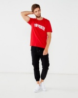 Converse Collegiate Text SS Tee Red Photo