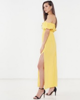 Legit Bardot Maxi Dress Mustard Photo