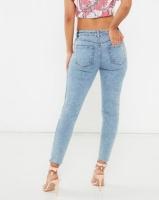 Legit Hiwaist Slash Knee Marble Acid Skinny Jeans Marble Acid Photo