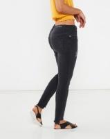 Legit Step Fray Hem Skinny Jeans Black Photo