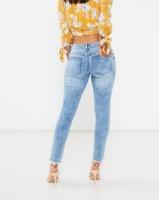 Legit Hilo Fray Hem Marble Acid Skinny Jeans Marble Acid Photo