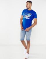 Soviet New Keynes Printed Slim Fit T-shirt Blue Photo