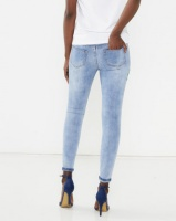 Brave Soul Floral Embroidery Skinny Jeans Blue Photo