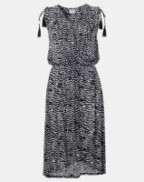 Contempo Monotone Cover Up Dress Black/White Photo