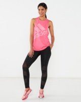 adidas Performance Badge of Sport Logo Tank Pink Photo