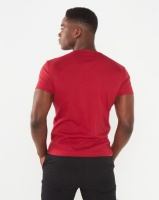 Soviet Bolt Evo Core V-Neck Muscle Fit T-Shirt Red Photo