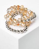 Queenspark 4 Row Gold Crystal Wristwear Silver/Colour Photo
