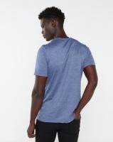 Lee Cooper KIA Chest Print T-Shirt Navy Melange Photo
