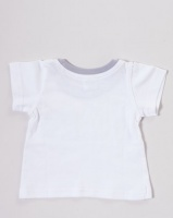 Kapas Boys Car T-Shirt White Photo