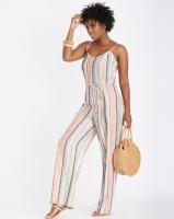 Contempo Stripe Jumpsuit Multi Photo