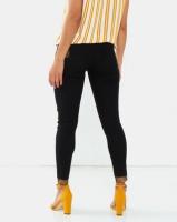Legit Gold Paint Skinny Jeans Black Photo
