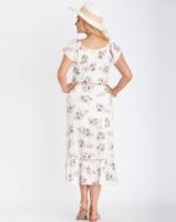 Contempo Floral Dress Ivory Photo