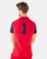 Polo Mens Custom Fit Upstyle Short Sleeved Pique Golfer Red Photo