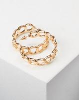All Heart Link Hoop Earrings Gold Photo