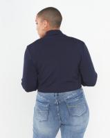 QUIZ Curves 3/4 Sleeve Crop Jacket Navy Photo