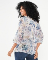 Queenspark Pleated Detail Woven Shirt Multi Photo