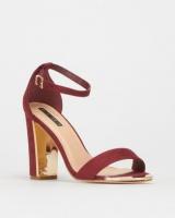 Legit S19 Gold Toe Cap & Heel Insert Block Heels Burgundy Photo