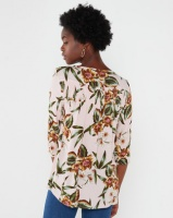 Queenspark Floral Printed Viscose Woven Blouse Pink Photo