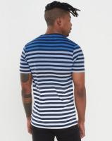 Klevas Pablo Stripe T-shirt Blue Photo
