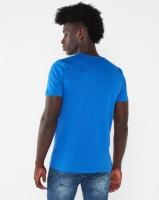 K-Star 7 View Printed Crew Neck T-shirt Royal Blue Photo