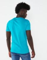 K-Star 7 View Printed Crew Neck T-shirt Blue Photo