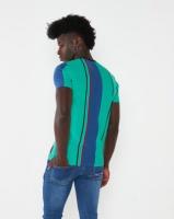 K-Star 7 Fredo Vertical Stripe T-shirt Green Photo