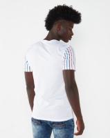 K-Star 7 Ruth Stripe Perforated T-shirt White Photo