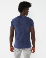 K-Star 7 Werner Acid Wash V-Neck T-shirt Indigo Photo
