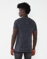 K-Star 7 Werner Acid Wash V-Neck T-shirt Grey Photo