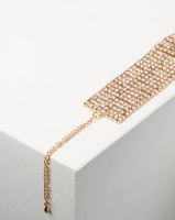 Adoria Wide Diamante Encrusted Bracelet Gold Photo