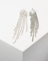 Adoria Statement Drop Earrings Silver Photo