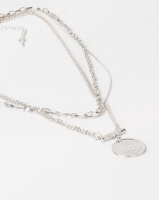 Lily Rose Lily & Rose Triple Layer Coin Necklace Silver Photo