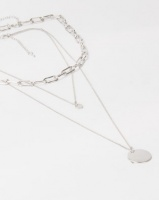 Lily Rose Lily & Rose Triple Layer Chain Link Necklace Silver Photo