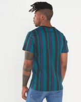 Beaver Canoe Swagga Stripe Luxe Print With Embroidery Teal Photo