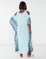 Allegoria Tie Dye Print Kaftan Light Blue Photo