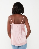 Miss Cassidy By Queenspark Pink Silk Touch Woven Camisole Photo