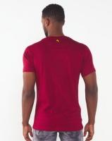 Soviet Hollywood Printed Slim Fit T-shirt Burgundy Photo