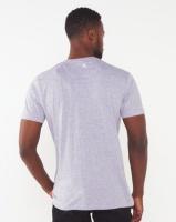 Soviet Elio Printed Slim Fit T-shirt Grey Melange Photo