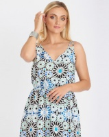 Contempo Mosaic Maxi Dress Multi Photo