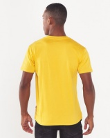 Cutty Cable Crew Neck T-shirt Mustard Photo