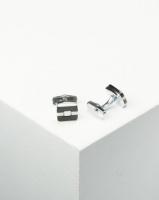 Xcalibur Square Cufflink Black & White Photo