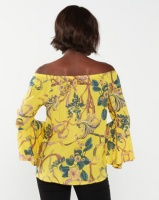 Queenspark Chain Design Marilyn Woven Blouse Yellow Photo