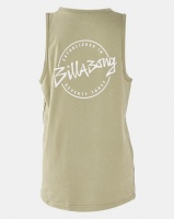 Billabong Eight Six Singlet Vest Moss Green Photo