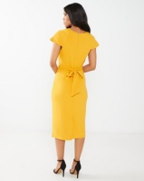 Miss Cassidy By Queenspark Amal Knit Dress Mustard Photo