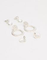 Queenspark Glitter 3 Pack Silver Earrings Photo
