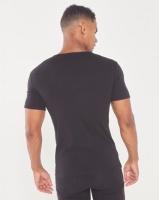 Jonathan D Cancun Slim Fit V-Neck T-Shirt Black Photo